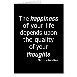Pensées de qualité ? Puis une vie heureuse… Carte De Vœux