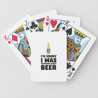 Penser à la bouteille à bière Z860x Cartes À Jouer