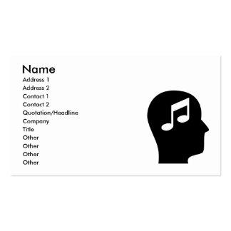 Penser à l'orchestre modèles de cartes de visite