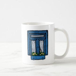 Penser à vous attaque (le bleu) mug blanc