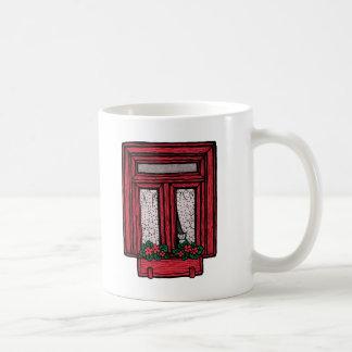 Penser à vous attaque (le rouge) mug blanc