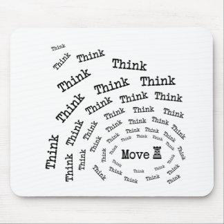 Penser-Mouvement d'échecs (W) Tapis De Souris