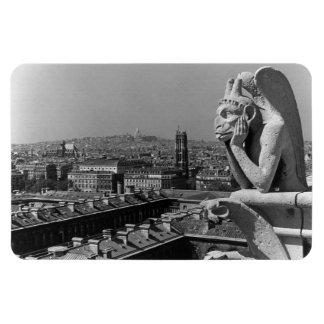 Penseur 1970 de cathédrale de la France Paris Magnets En Rectangle