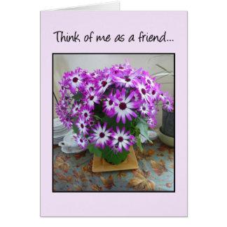 Pensez à moi en tant qu'ami… carte de vœux