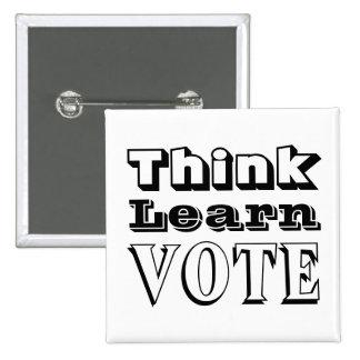 Pensez, apprenez, votez badges