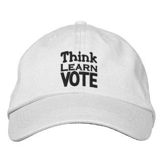 Pensez, apprenez, votez casquette brodée