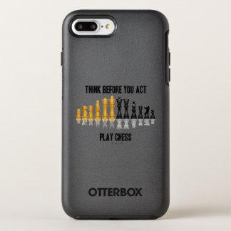 Pensez avant que vous des échecs réfléchis coque otterbox symmetry pour iPhone 7 plus
