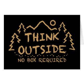 Pensez dehors, aucune boîte requise carte de vœux