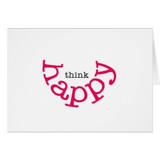 Pensez heureux (le sourire rouge) cartes