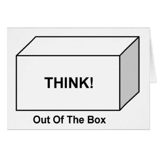 Pensez hors de la boîte cartes