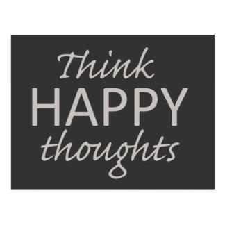 Pensez la carte postale de motivation de pensées