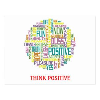Pensez la carte postale positive