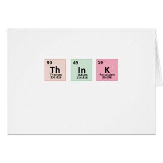 Pensez - la chimie carte de vœux
