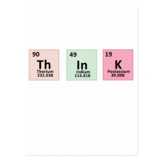 Pensez - la chimie cartes postales