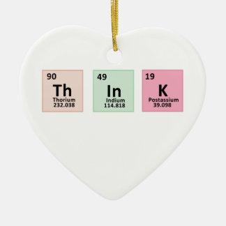 Pensez - la chimie ornement cœur en céramique