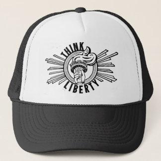 Pensez la liberté - casquette marqué