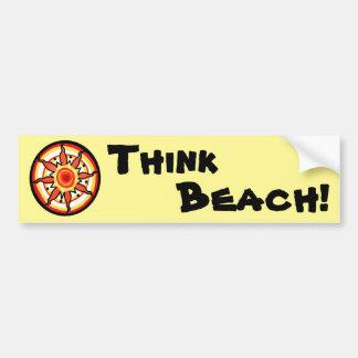 Pensez la plage ! Adhésif pour pare-chocs Autocollant Pour Voiture