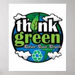 Pensez la terre verte poster