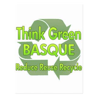 Pensez le basque vert carte postale