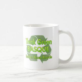 Pensez le basque vert tasses à café