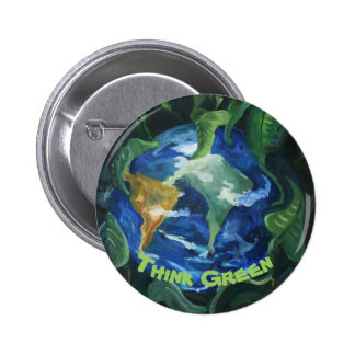 Pensez le bouton vert pin's