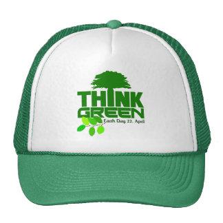 Pensez le chapeau vert casquette trucker