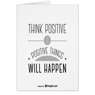 Pensez le positif carte de vœux