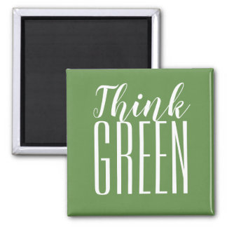 Pensez le pro aimant vert de citation