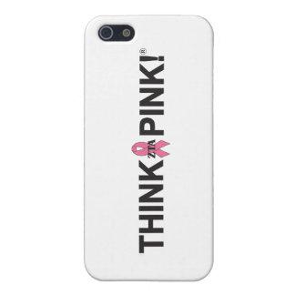 Pensez le rose étuis iPhone 5