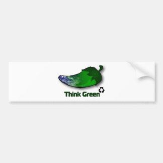 Pensez le vert autocollant pour voiture