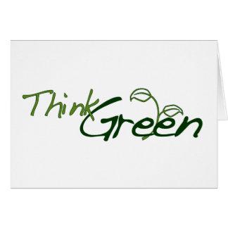 Pensez le vert cartes