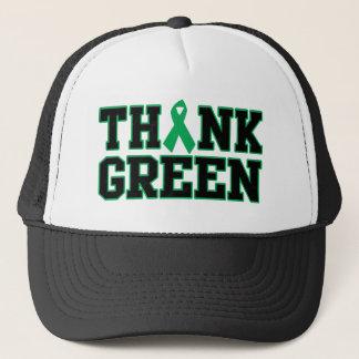 Pensez le vert casquette