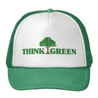 Pensez le vert casquettes de camionneur