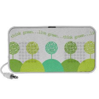 Pensez le vert haut-parleurs iPod