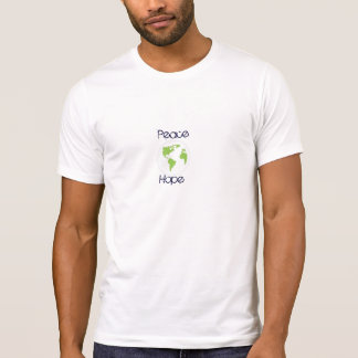 pensez le vert, la terre d'espoir de paix, sur la t-shirt