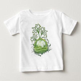 Pensez le vert t-shirt pour bébé