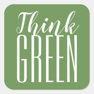 Pensez les pro autocollants verts de citation