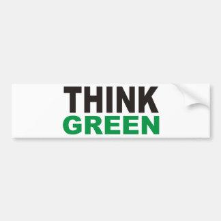 Pensez les produits verts et les conceptions ! autocollant pour voiture