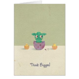 Pensez plus grand ! Carte de voeux