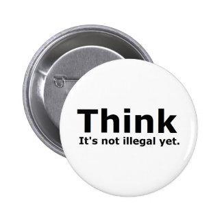 Pensez que ce n'est pas vitesse illégale pourtant  badge rond 5 cm