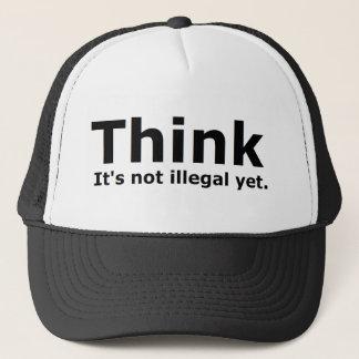 Pensez que ce n'est pas vitesse illégale pourtant casquette