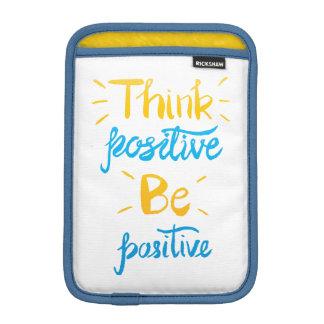 Pensez que le positif soit douille positive de housse iPad mini