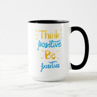 Pensez que le positif soit tasse positive