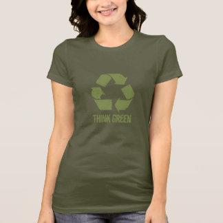 Pensez que le vert réutilisent le T-shirt