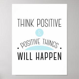 Pensez que les choses positives et positives se poster
