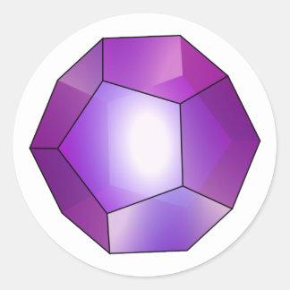Pentagone Dodekaeder Dodecahedron Sticker Rond
