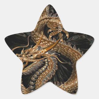 Pentagone étoilé de dragon sticker étoile