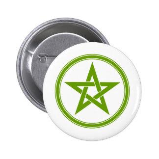 Pentagone étoilé olive de pentagramme badge