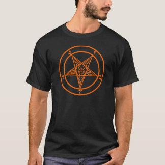Pentagone étoilé orange de Baphomet T-shirt