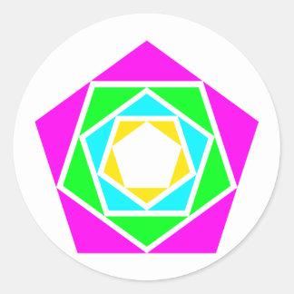 Pentagones pentagons sticker rond